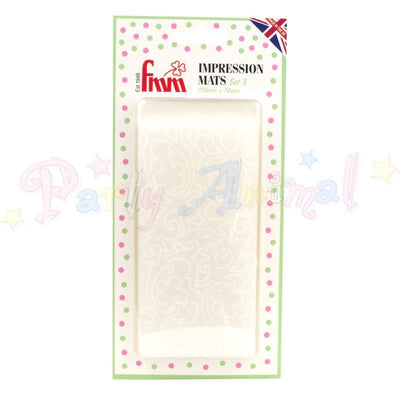FMM Textured Impressions Mats Vintage Lace effect Set of 2