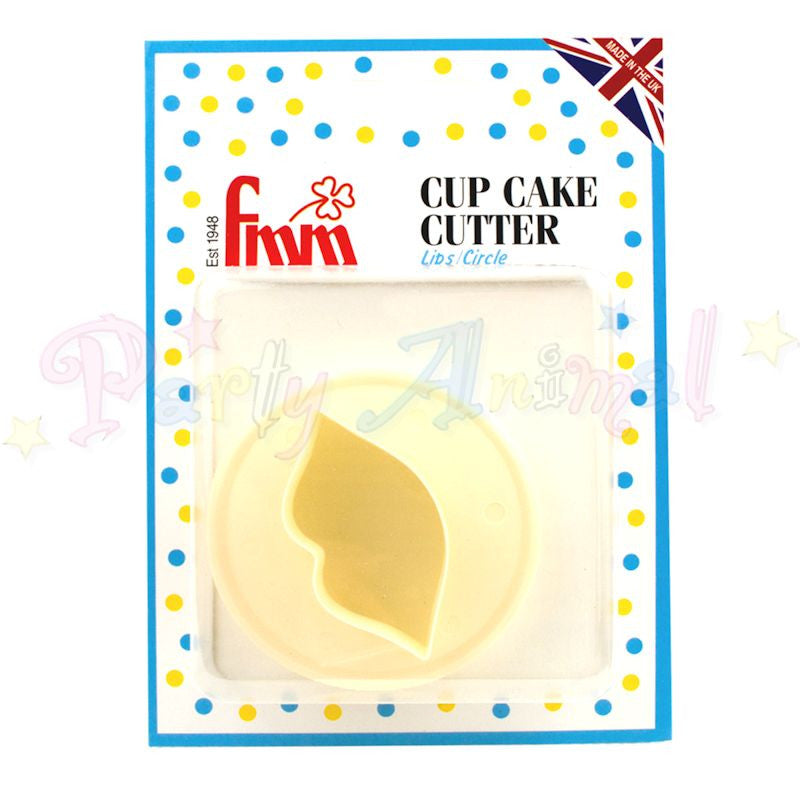 FMM - Double sided cupcake cutter - Lips and Circle