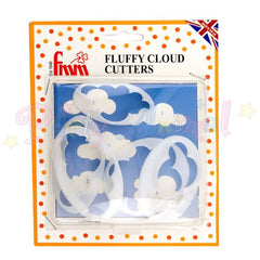 FMM Sugarcraft Cutters FLUFFY CLOUDS Set of 5