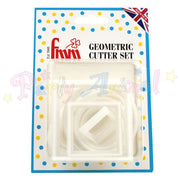 FMM Geometrical Cutters - Round, Square & Oval Set Of 10