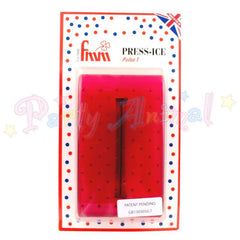 FMM Press Ice Embosser POLKA 1 Impression Tool RED