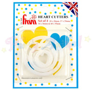 FMM Sugarcraft HEART Cutters Set of 4