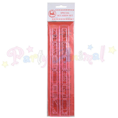 FMM Tappits Cutters SPECIAL OCCASIONS Shape cutters for Cake Decorating motifs