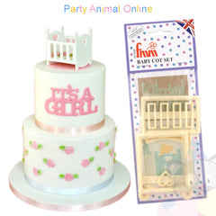FMM Sugarcraft Cutters - Baby Cot Set