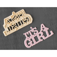 FMM Curved Words Cutter - It's A Girl