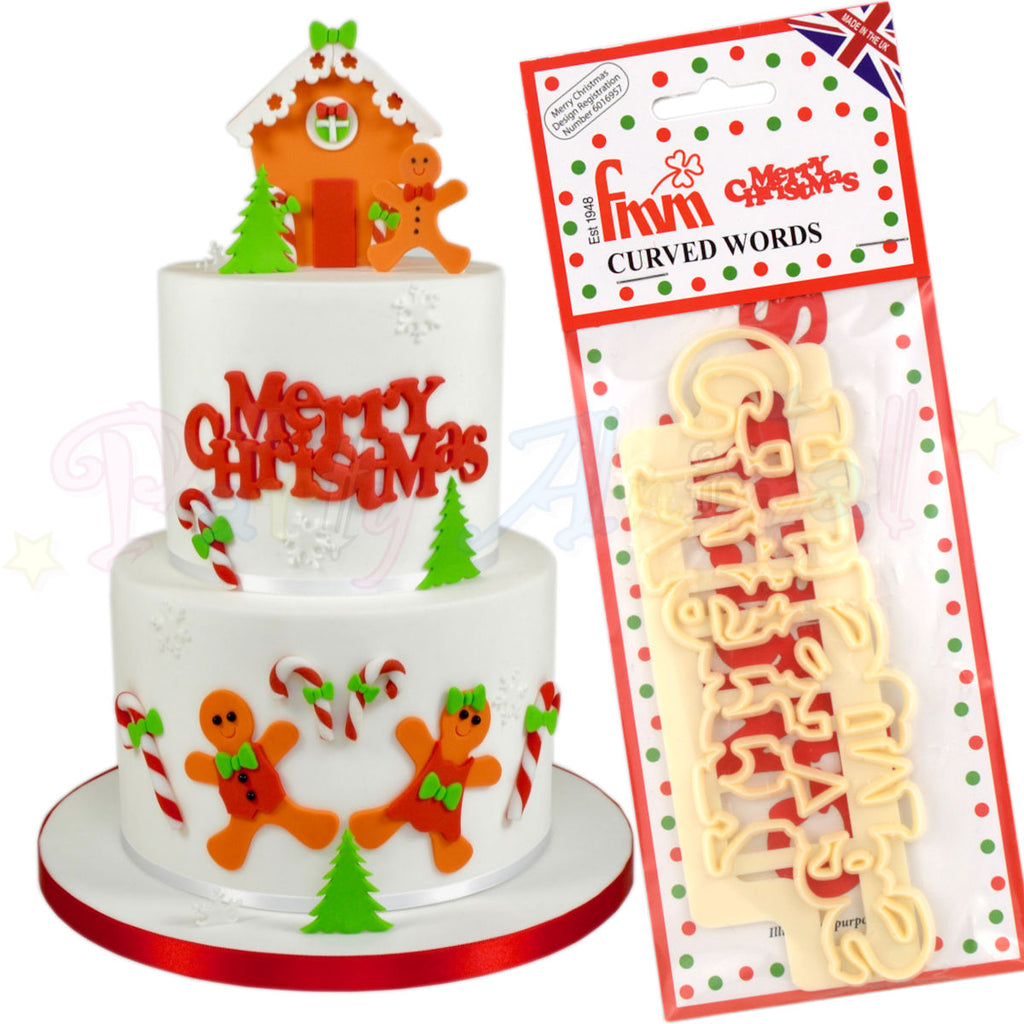 FMM Curved Words Cutter - Merry Christmas