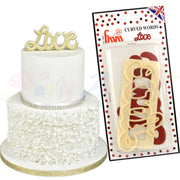 FMM Curved Words Cutter - Love