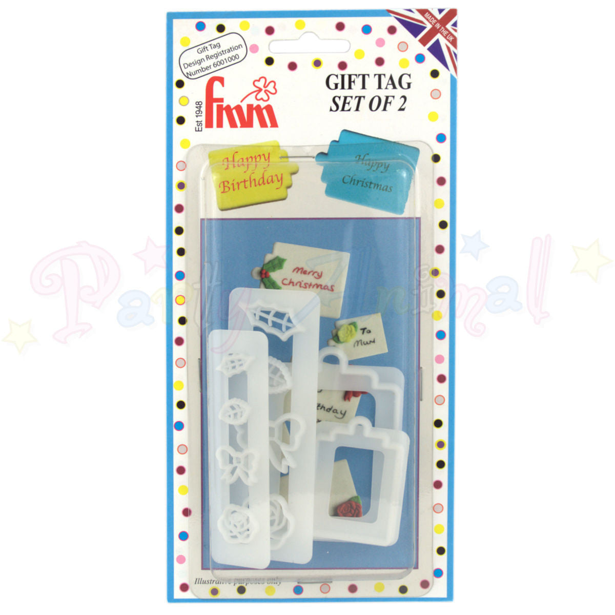 FMM Sugarcraft - Gift Tag Cutter Set of 2