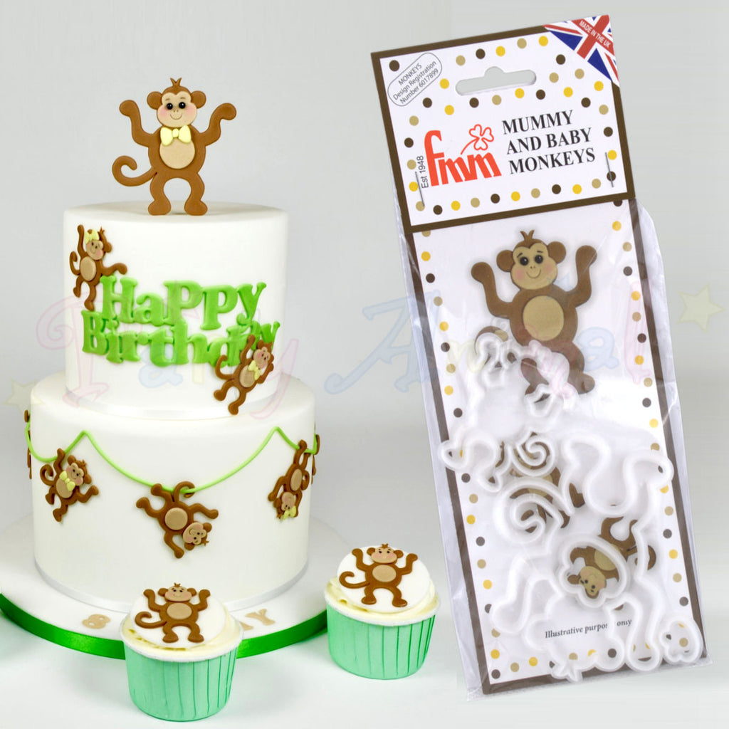 FMM Mummy and Baby Monkeys Cutter Set!