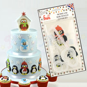 FMM Mummy and Baby Penguin Cutter Set (also for Robins/Snowmen)