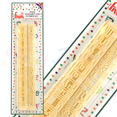 FMM - Tappit Cutter - Pixel Upper Case Alphabet & Number Tappit Set
