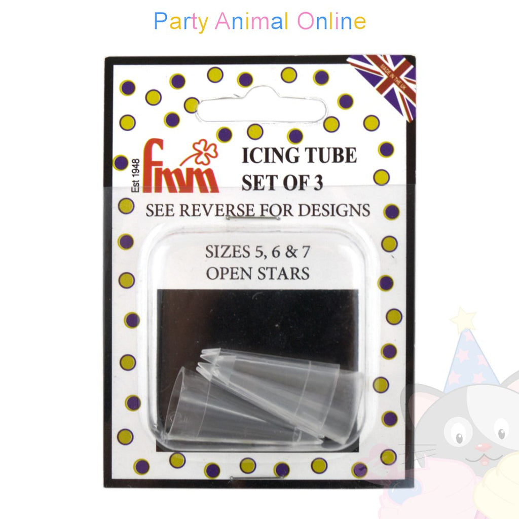 FMM Icing Tube Set of 3 - Sizes 5, 6 & 7 - Open Stars