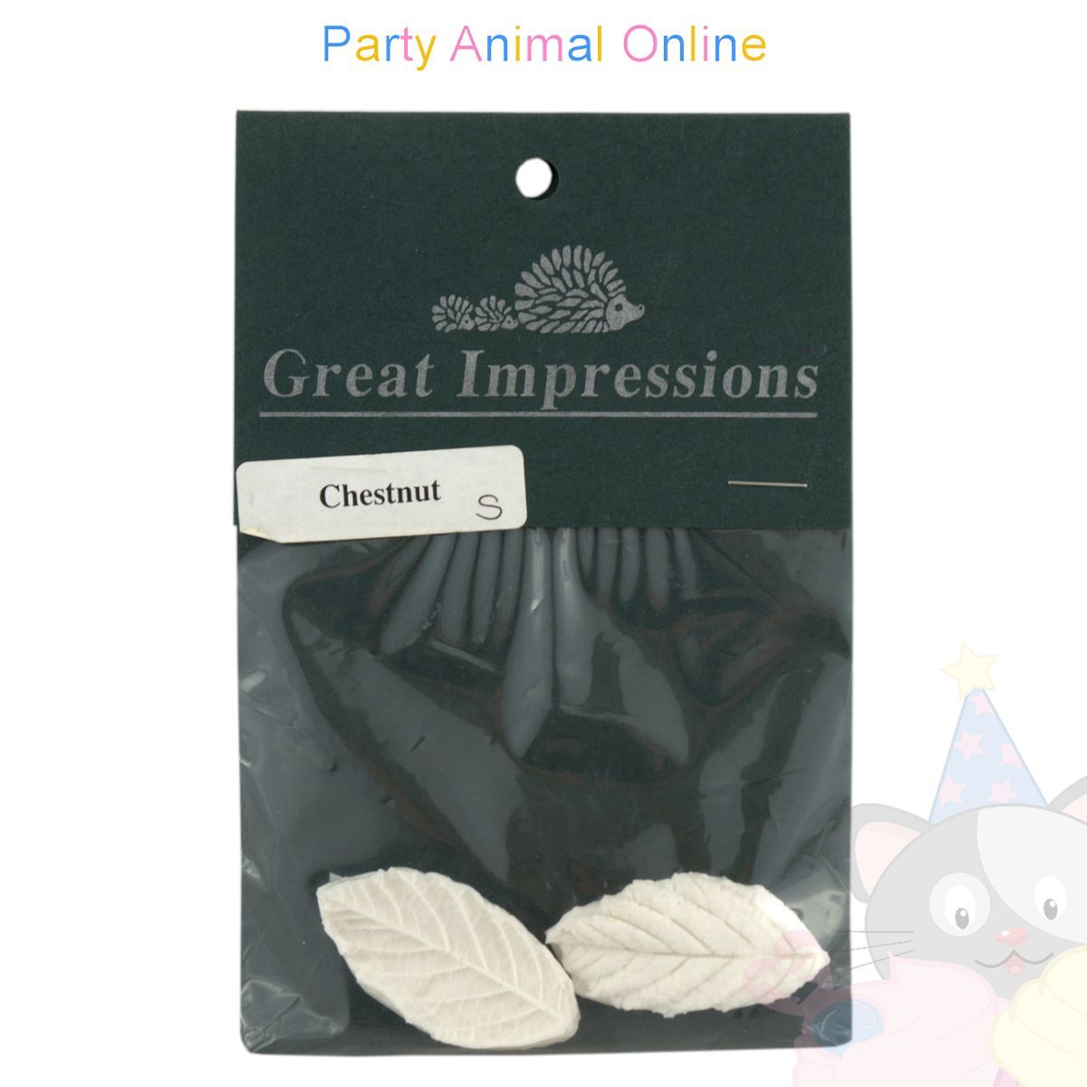 Great Impressions Double Veiner - Chestnut Leaf - Small - 4.5cm