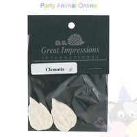 Great Impressions Double Veiner - Clematis Leaf XSmall 3.5cm
