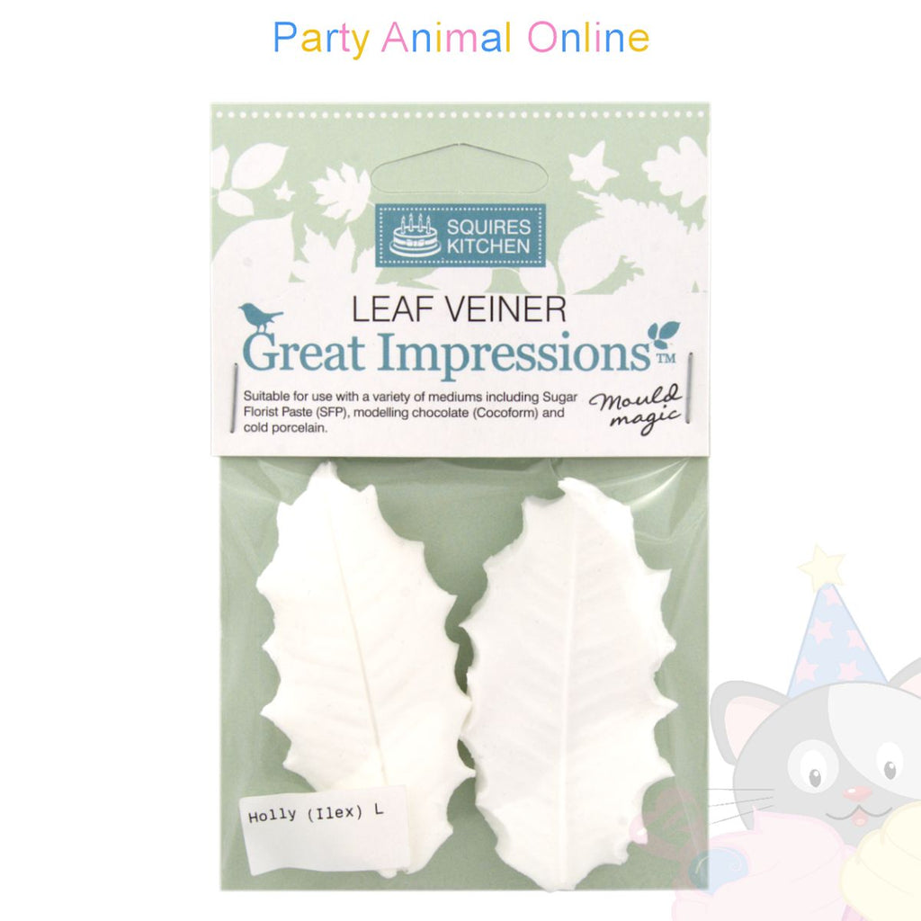 Great Impressions Double Veiners - Holly Leaf - Large