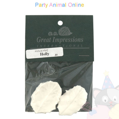 Great Impressions Double Veiner - Hedgehog Holly Leaf- Medium 4.5cm