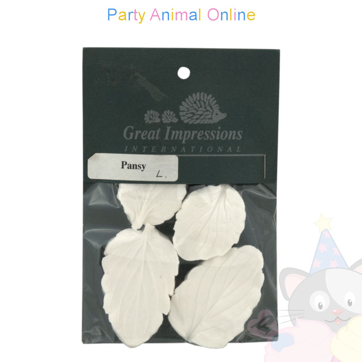 Great Impressions Double Veiners - Pansy Leaf Large set of 2