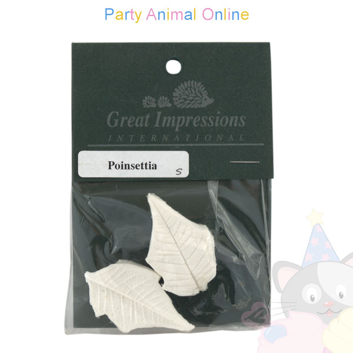Great Impressions Double Veiner - Poinsettia Leaf - Small