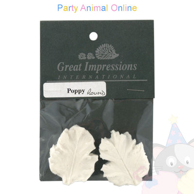 Great Impressions Double Veiner - Poppy Leaf Round 4.5cm