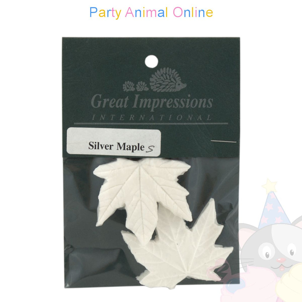Great Impressions Double Veiners - Silver Maple Leaf Small