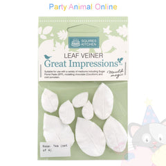 Great Impressions Double Veiners - Tea Rose Leaf Set of 4