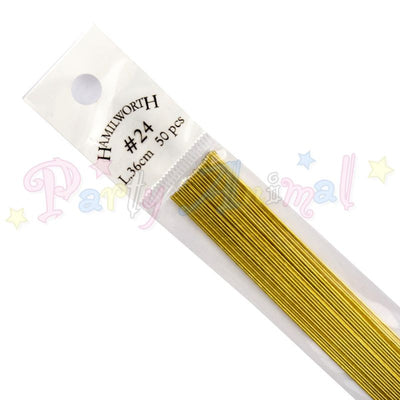 Hamilworth  24g METALLIC GOLD Floral / Floristry Wires