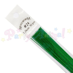 Hamilworth  24g METALLIC GREEN Floral / Floristry Wires