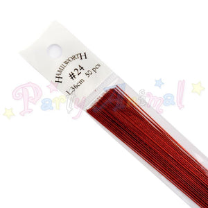 Hamilworth  24g METALLIC RED Floral / Floristry Wires