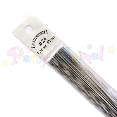 Hamilworth  24g METALLIC SILVER Floral / Floristry Wires