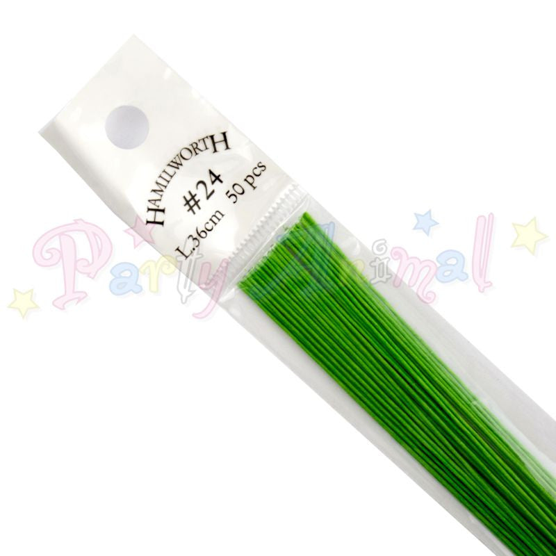 Hamilworth 24g NILE GREEN Floral / Floristry Wires
