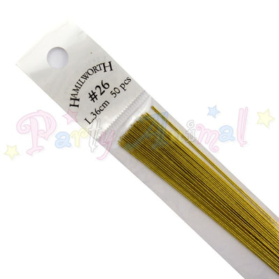 Hamilworth 26g METALLIC GOLD Floral / Floristry Wires