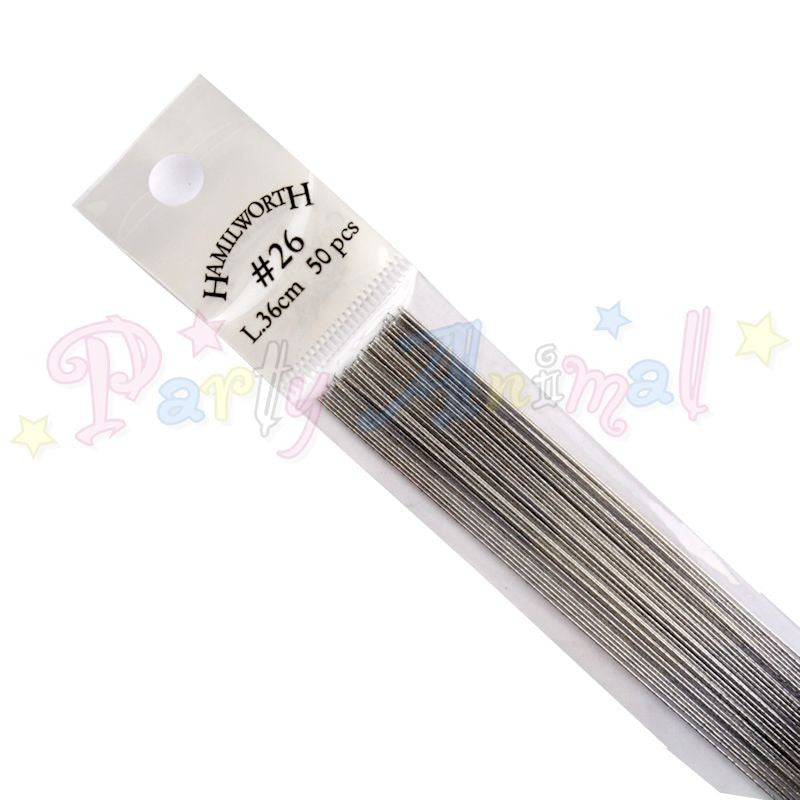Hamilworth 26g METALLIC SILVER Floral / Floristry Wires
