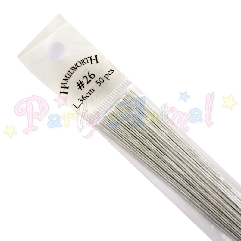 Hamilworth 26g WHITE Floral / Floristry Wires