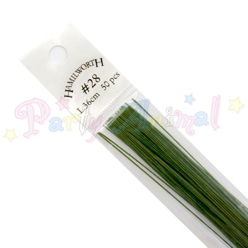 Hamilworth 28g DARK GREEN Floral / Floristry Wires