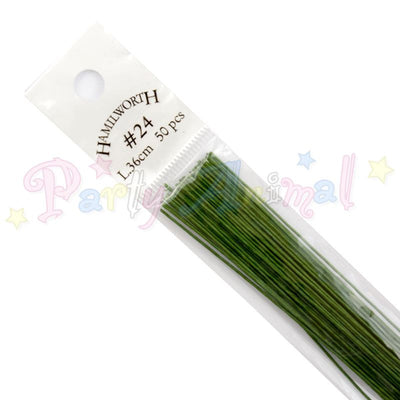 Hamilworth 24g  DARK GREEN Floral / Floristry Wires