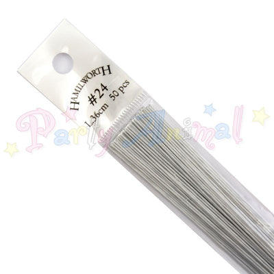 Hamilworth 24g WHITE Floral / Florist Wires