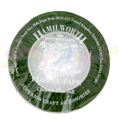 Hamilworth Floral Tape DARK GREEN - 12mm