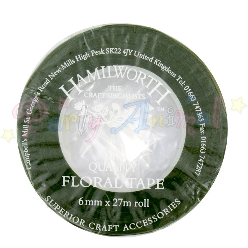 Hamilworth Floral Tape DARK GREEN - 6mm