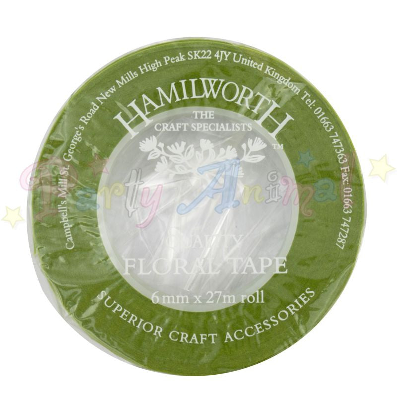 Hamilworth Floral Tape NILE GREEN - 6mm