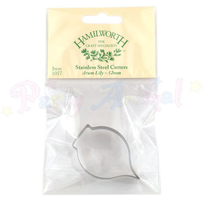 Hamilworth Metal Cutters - Arum Lily - 52mm - Stainless Steel