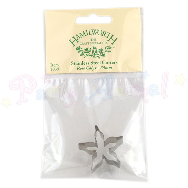Hamilworth Metal Cutters - Rose Calyx - 35mm  - Stainless Steel
