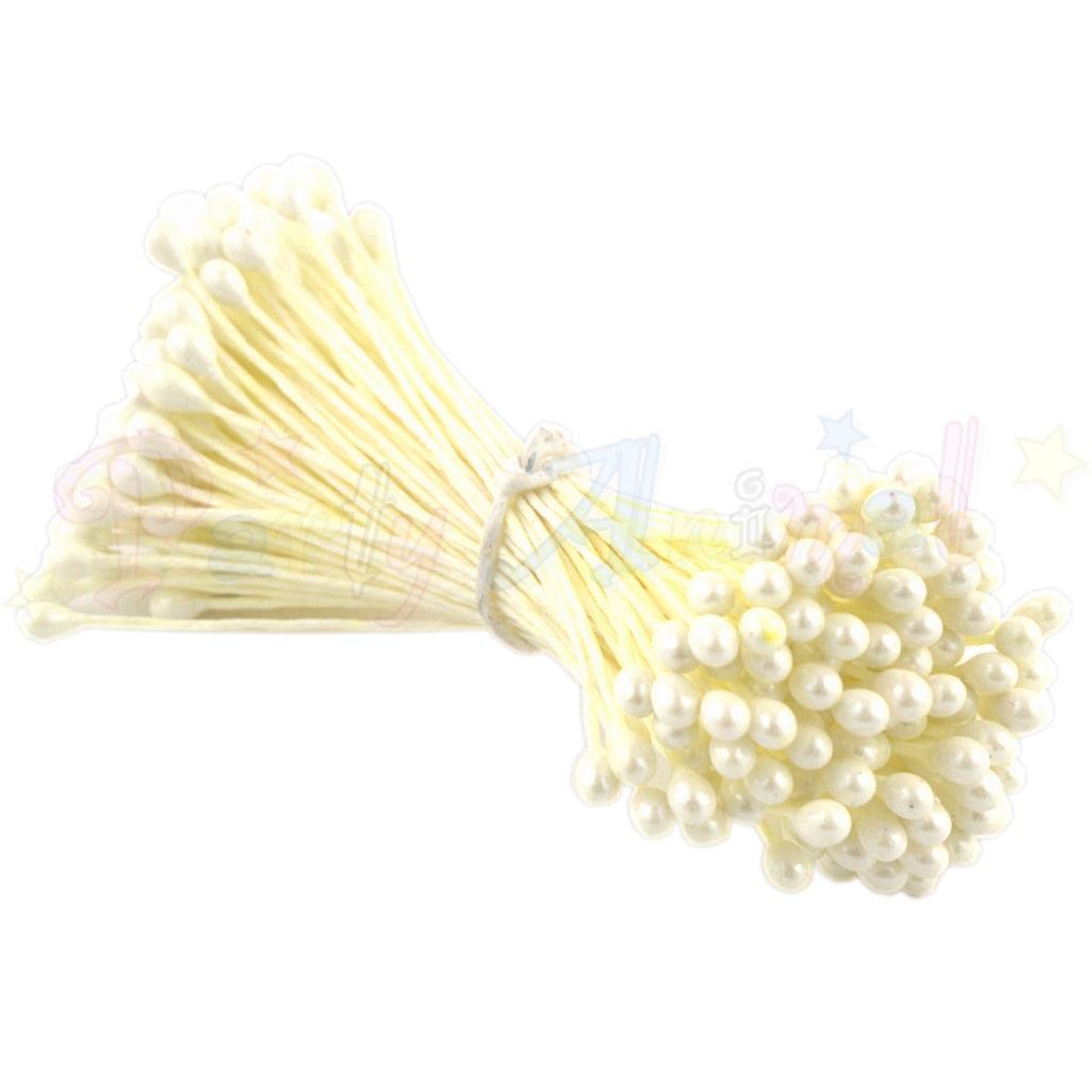 Hamilworth Flower Stamen Pearl Cream P125 (1mm head)