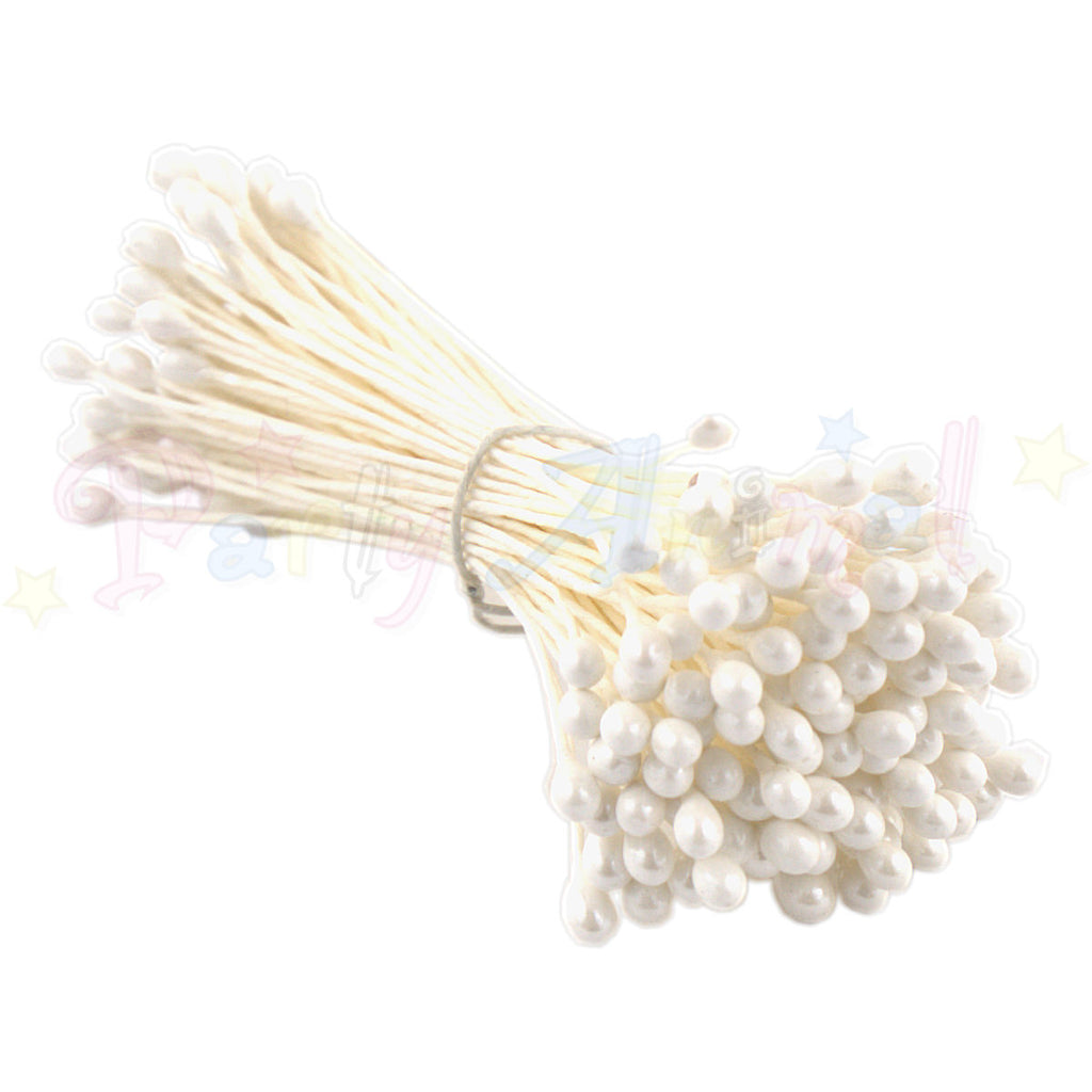 Hamilworth Flower Stamen Pearl White P125 (1mm head)