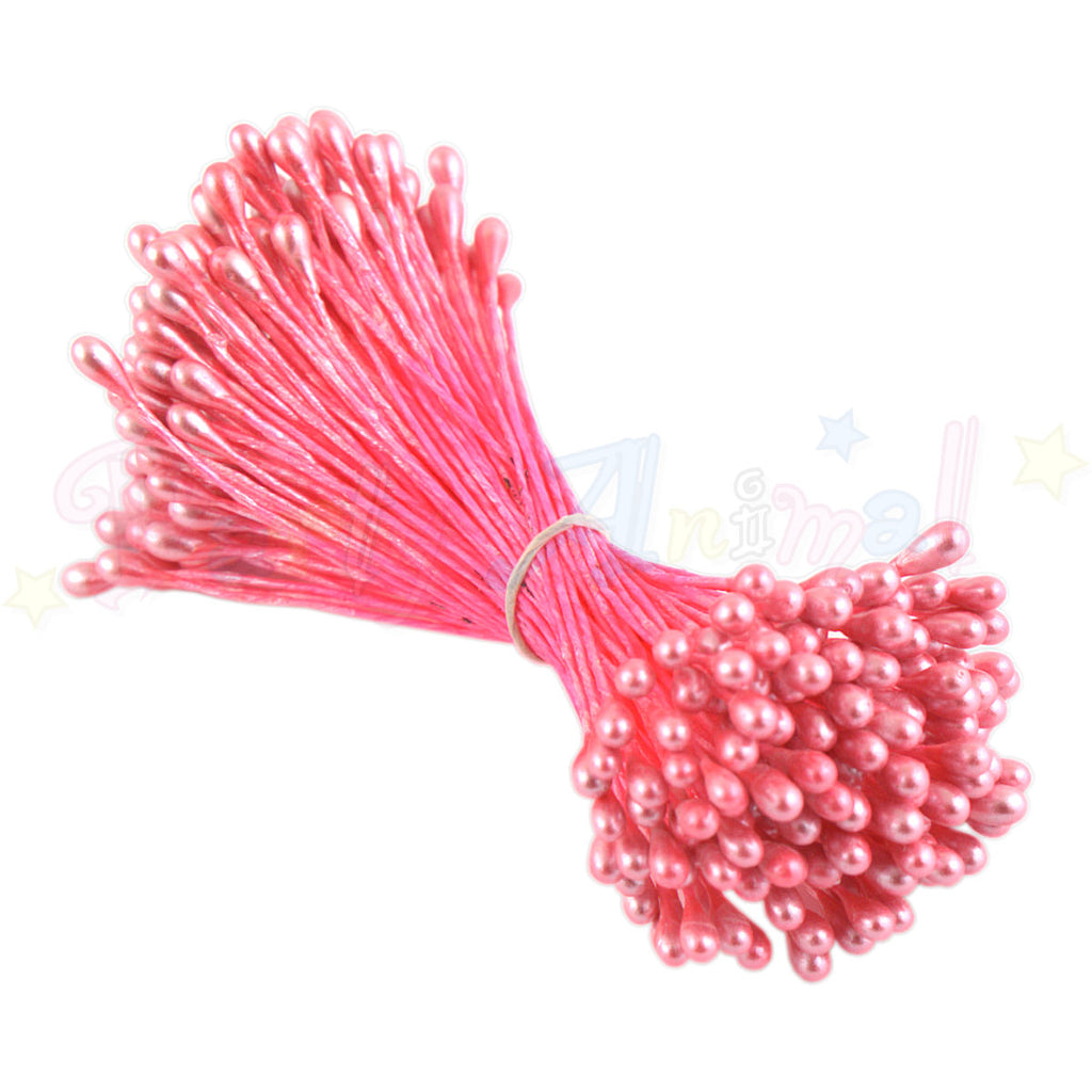 Hamilworth  Flower Stamen PEARL Fuchsia Pink P1 (3mm head)