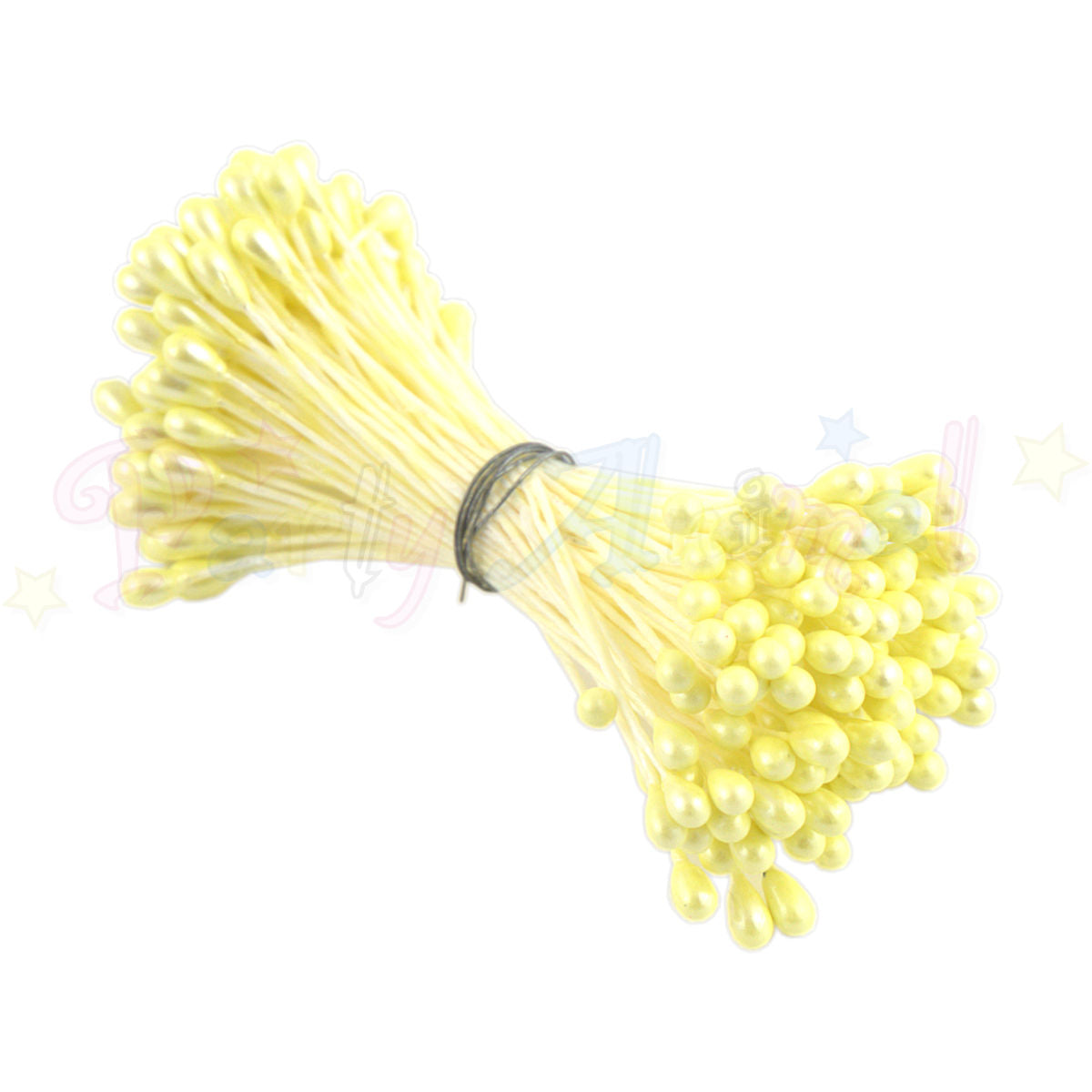 Hamilworth  Flower Stamen PEARL Lemon P1 (3mm head)
