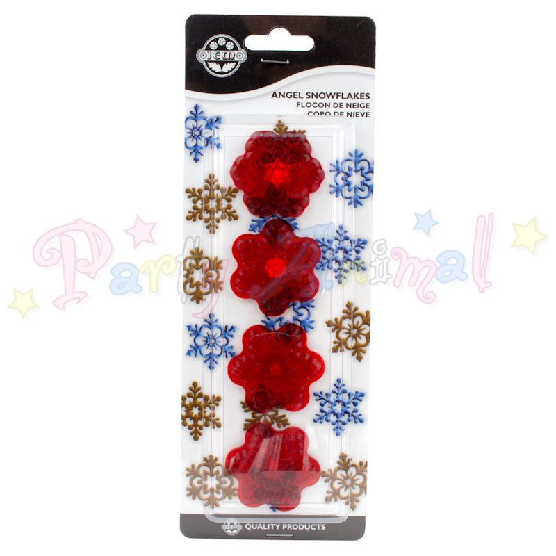 JEM Angel Snowflake Cutters - Set of 4