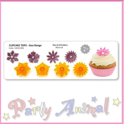 JEM Fantasy Flower Cutters for Cupcake Tops and more - Set 1