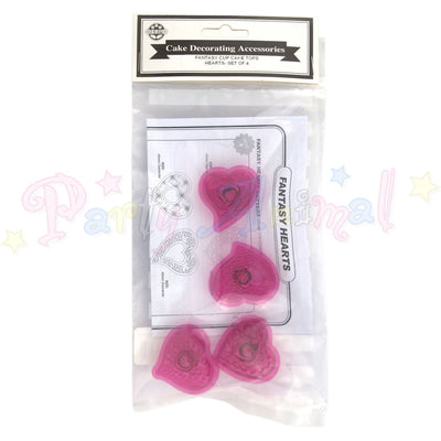 JEM Fantasy Hearts Cutters Set of 4