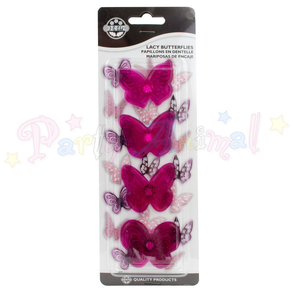 JEM Lacy Butterfly Cupcake Topper Cutter - Set of 4