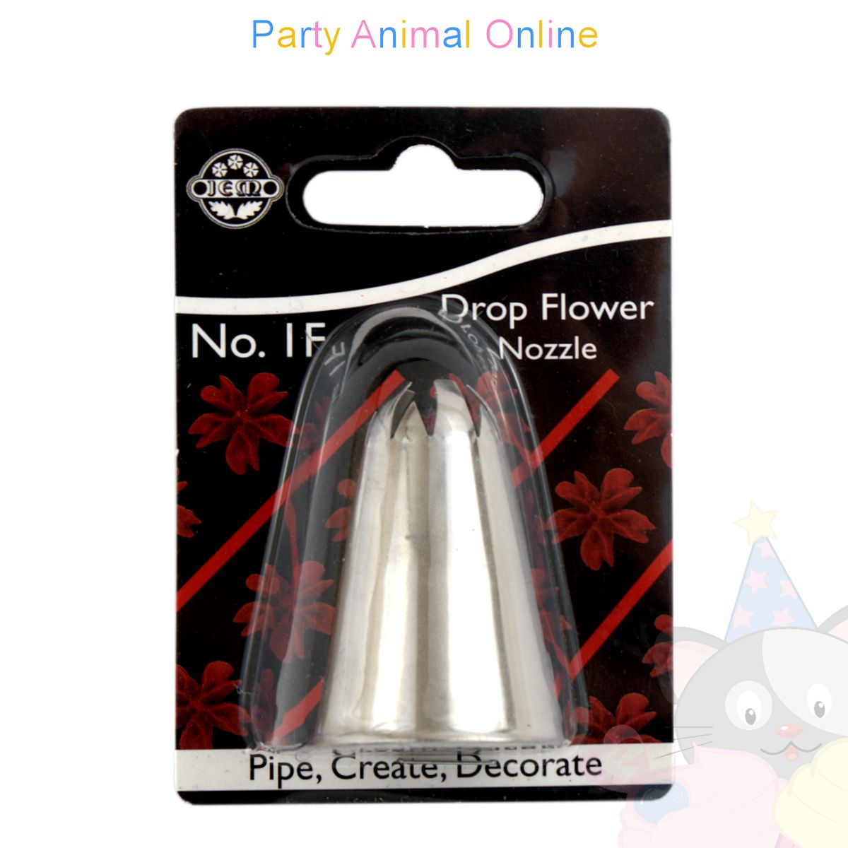 JEM Nozzle 1F - Drop Flower Piping Tube